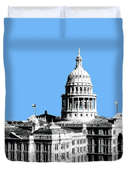 Austin Texas Capital - Sky Blue Duvet Cover