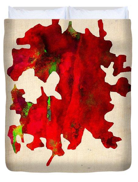 Austin Watercolor Map Duvet Cover by Naxart Studio