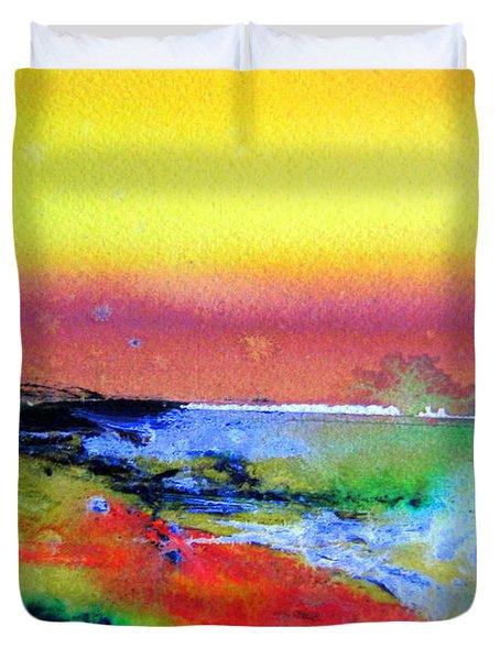 Australia Beach Scene Duvet Cover