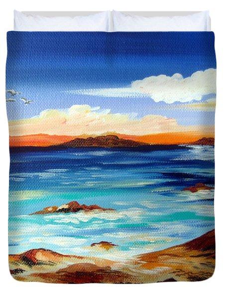 Australian Beach Downsouth Duvet Cover
