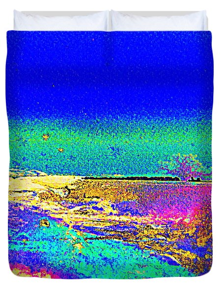 Duvet Cover featuring the painting Australian Beach by Roberto Gagliardi