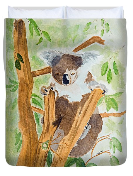 Koala In A Gum Tree  Duvet Cover