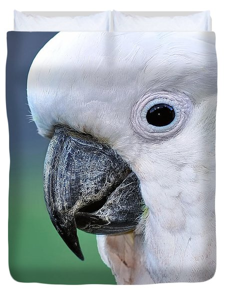 Australian Birds - Cockatoo Up Close Duvet Cover by Kaye Menner