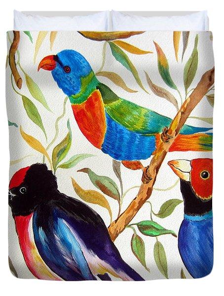 Australian Birds Duvet Cover
