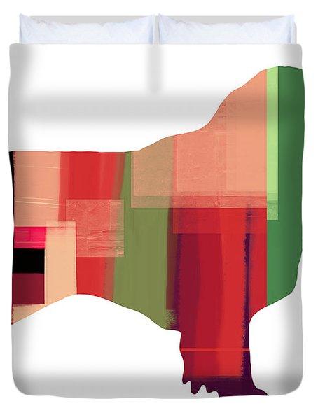 Australian Sheppard Duvet Cover by Naxart Studio