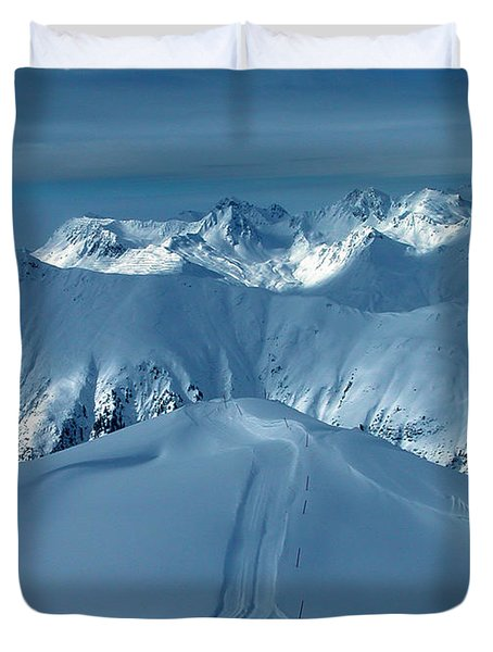 Duvet Cover featuring the photograph Austria Mountain Ischgl by Colette V Hera  Guggenheim