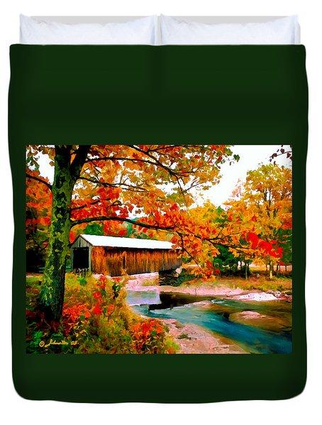 Authentic Covered Bridge Vt Duvet Cover