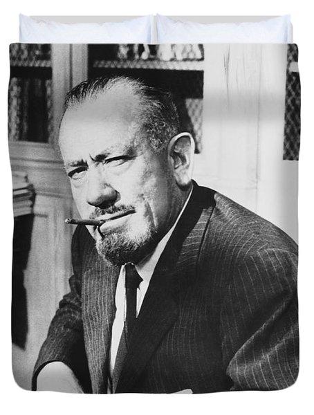 Author John Steinbeck Duvet Cover