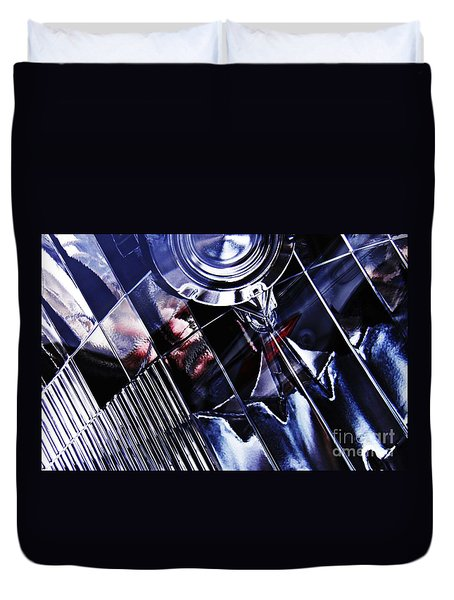 Auto Headlight 103 Duvet Cover by Sarah Loft