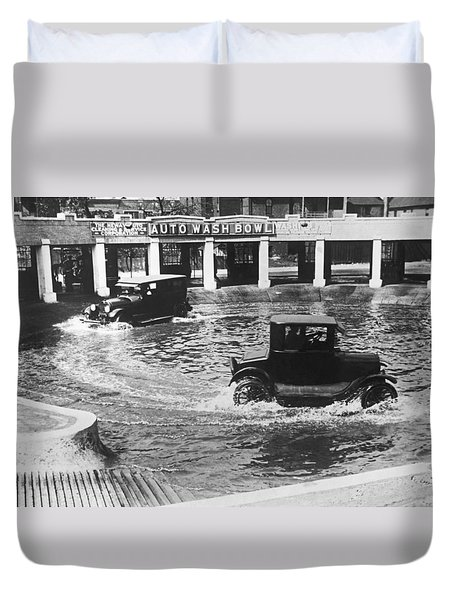 Auto Wash Bowl Duvet Cover