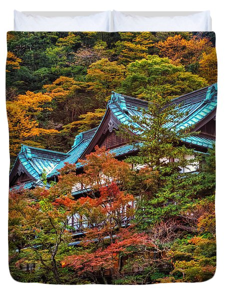 Autum In Japan Duvet Cover