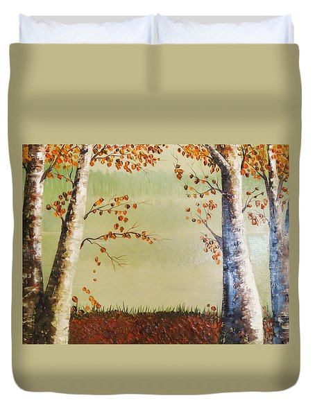 Autum On The Ema River  2 Duvet Cover