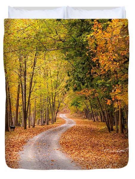Autum Path Duvet Cover by Melinda Ledsome