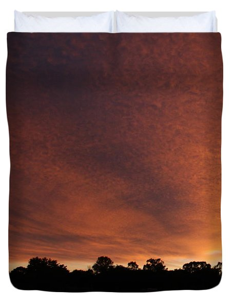 Autum Sunset Duvet Cover