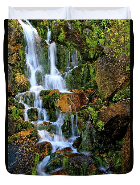 Autumn Along Summit Creek Duvet Cover
