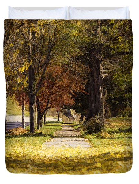 Autumn Arrives On My Block Duvet Cover