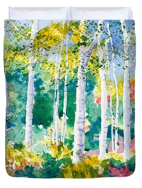 Autumn Aspen Duvet Cover