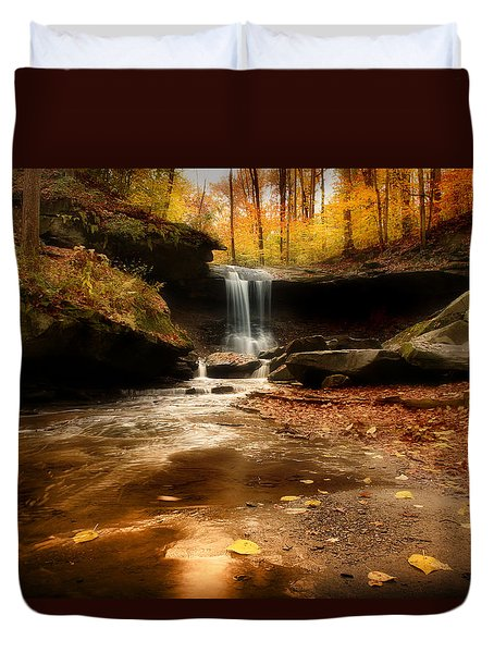 Autumn At Blue Hen Falls Duvet Cover