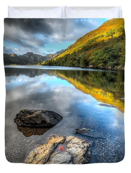 Autumn At Crafnant  Duvet Cover by Adrian Evans