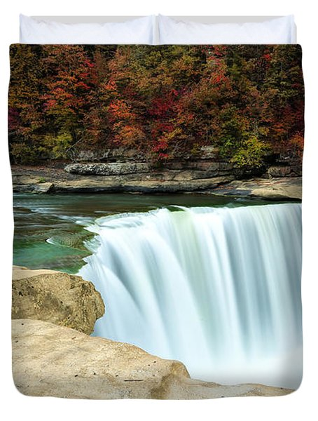 Autumn At Cumberland Falls Duvet Cover