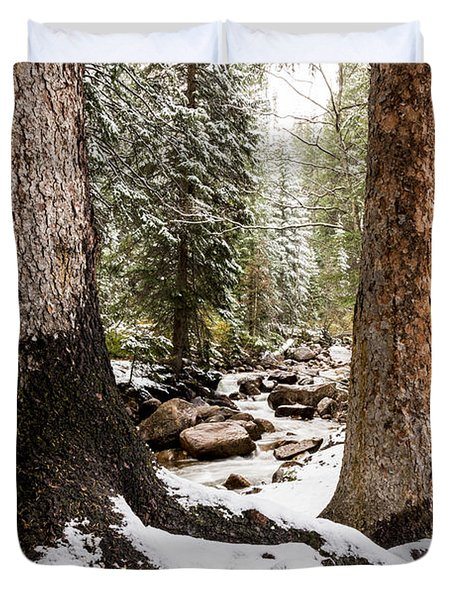 Autumn At Gore Creek 5 - Vail Colorado Duvet Cover by Brian Harig