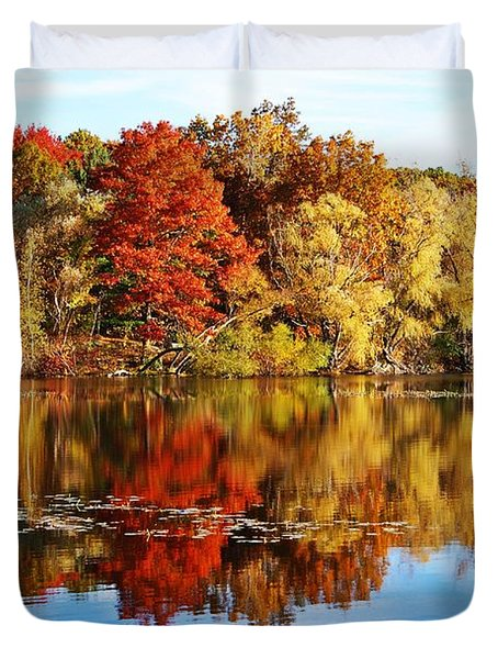 Autumn At Horn Pond Duvet Cover by Joe Faherty