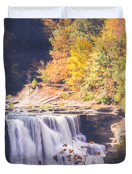 Autumn At Letchworth Duvet Cover