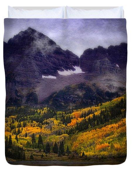 Duvet Cover featuring the photograph Autumn At Maroon Bells by Ellen Heaverlo