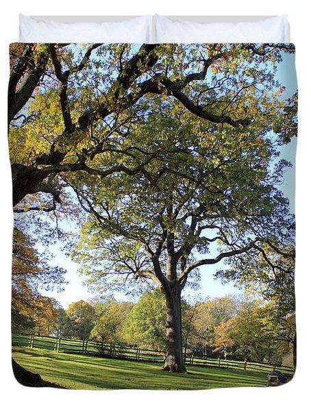 Autumn At Runnymede Uk Duvet Cover