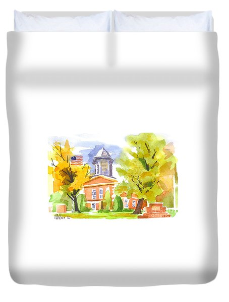 Autumn At The Courthouse Duvet Cover