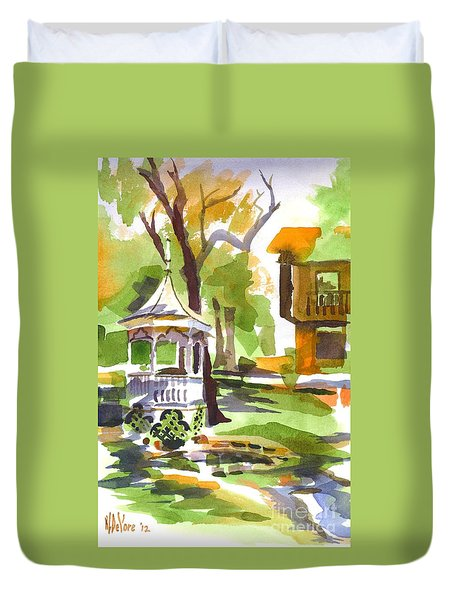 Autumn At The Rectory Duvet Cover by Kip DeVore
