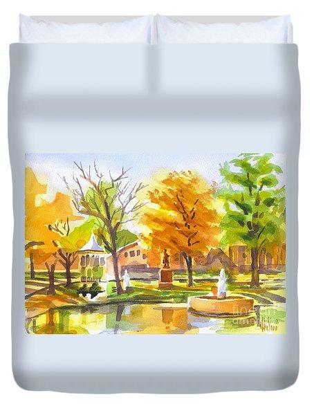 Autumn At The Villa Duvet Cover by Kip DeVore