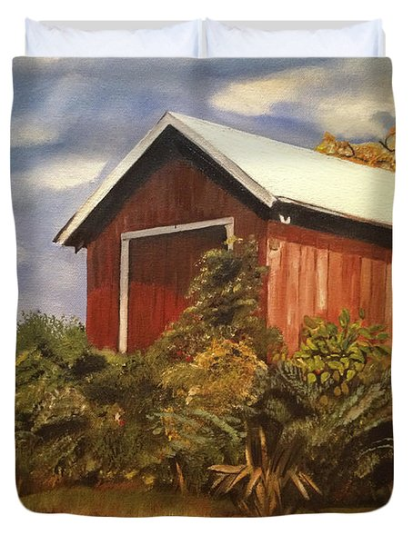 Autumn - Barn - Ohio Duvet Cover