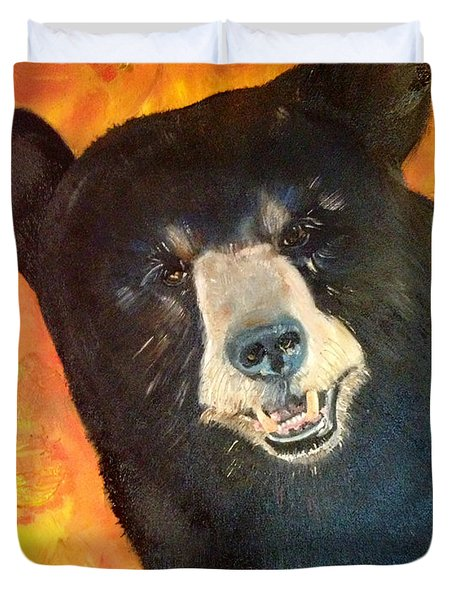 Autumn Bear Duvet Cover