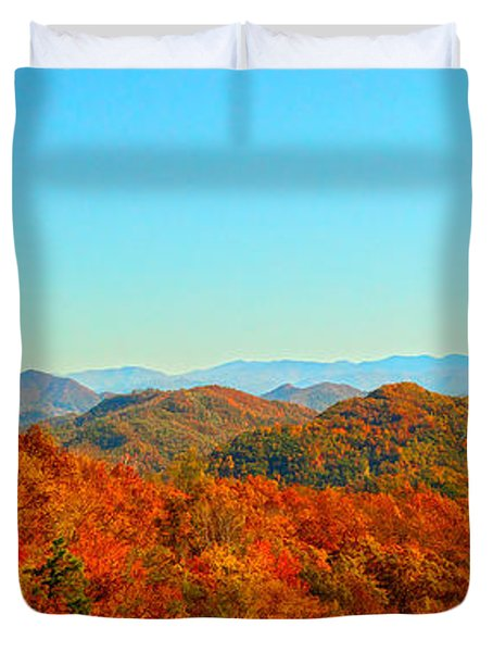Autumn Blue Ridge Duvet Cover