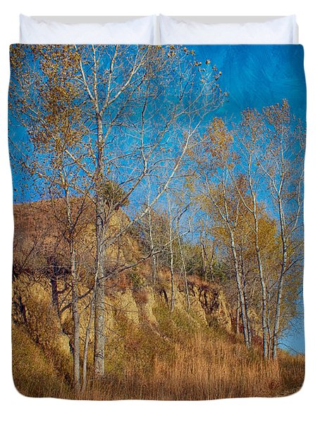 Autumn Bluff Painted Duvet Cover