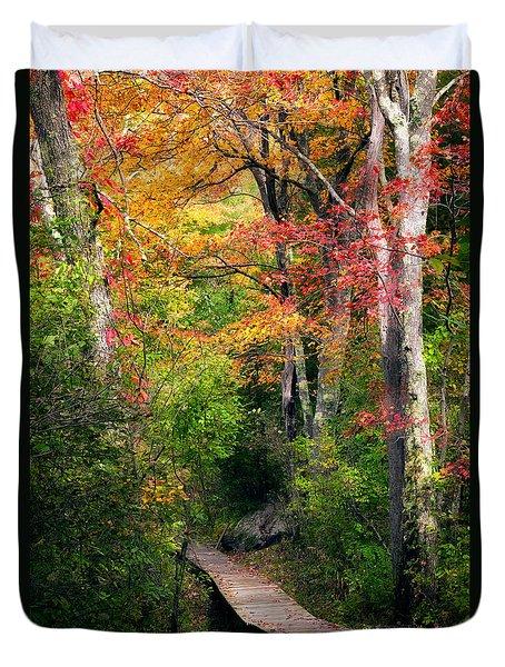 Autumn Boardwalk Duvet Cover by Bill Wakeley