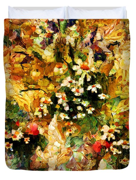 Autumn Bounty - Abstract Expressionism Duvet Cover