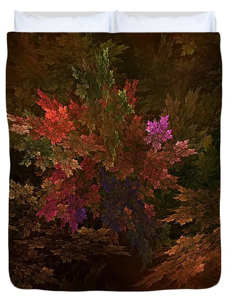 Duvet Cover featuring the digital art Autumn Bouquet by Olga Hamilton