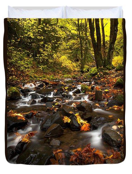 Autumn Breeze Duvet Cover by Mike  Dawson