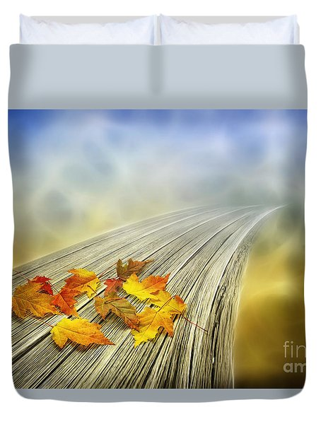 Autumn Bridge Duvet Cover by Veikko Suikkanen