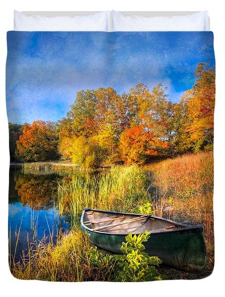 Autumn Canoe Duvet Cover