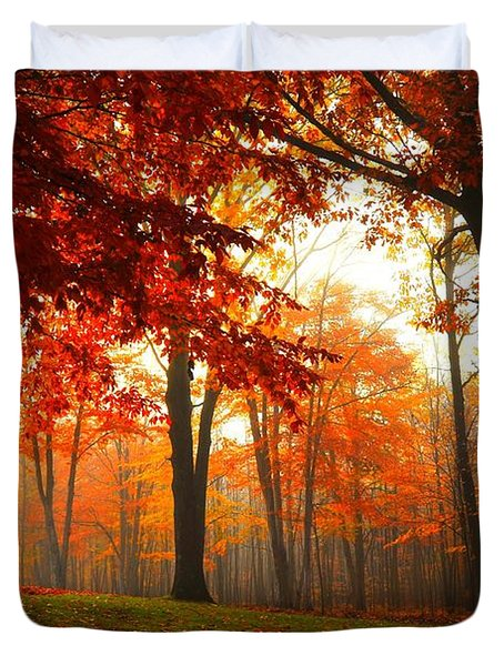 Autumn Canopy Duvet Cover by Terri Gostola