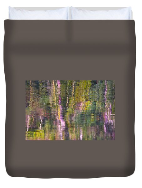 Duvet Cover featuring the photograph Autumn Carpet by Yulia Kazansky