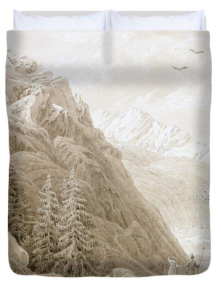 Autumn Duvet Cover by Caspar David Friedrich