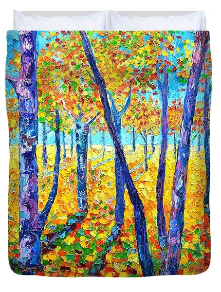 Autumn Colors Duvet Cover by Ana Maria Edulescu