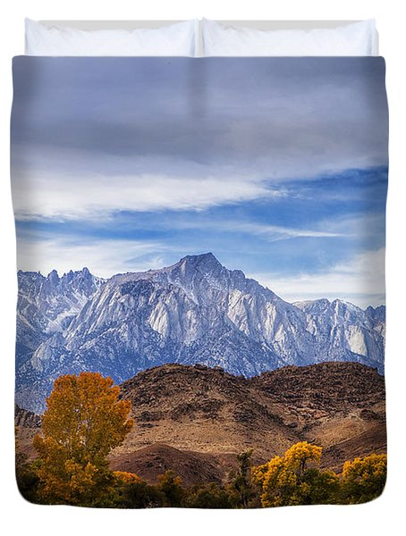 Autumn Colors And Mount Whitney Duvet Cover