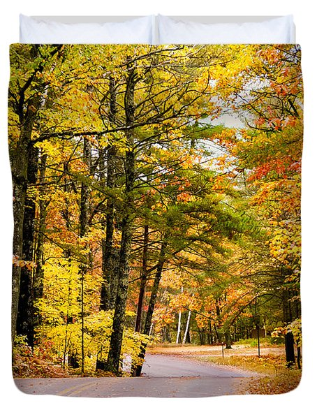 Autumn Colors - Colorful Fall Leaves Wisconsin - II Duvet Cover