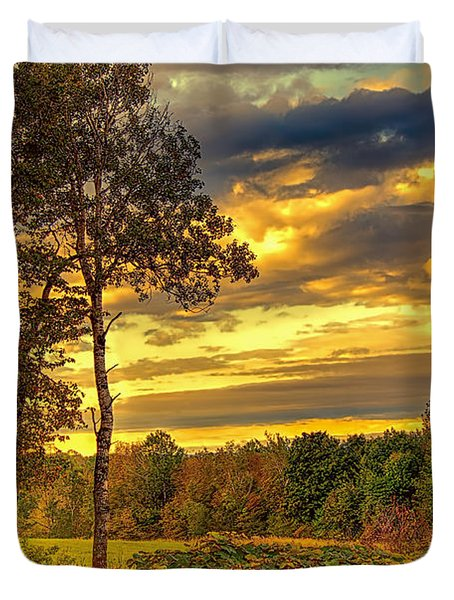 Autumn Colors Duvet Cover by Fred Larson