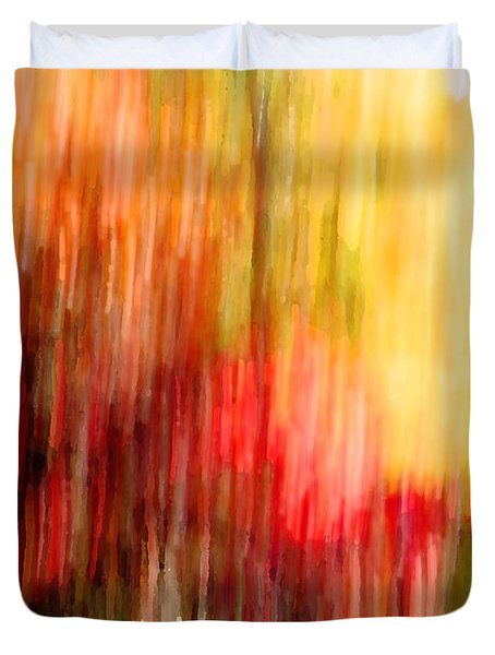 Autumn Colors In Abstract Duvet Cover